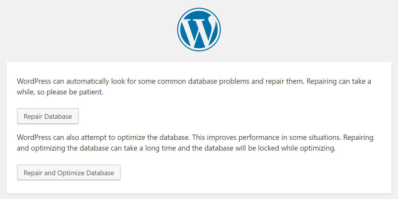 Repair Your WordPress Database