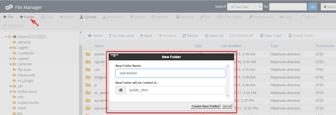 public_html folder