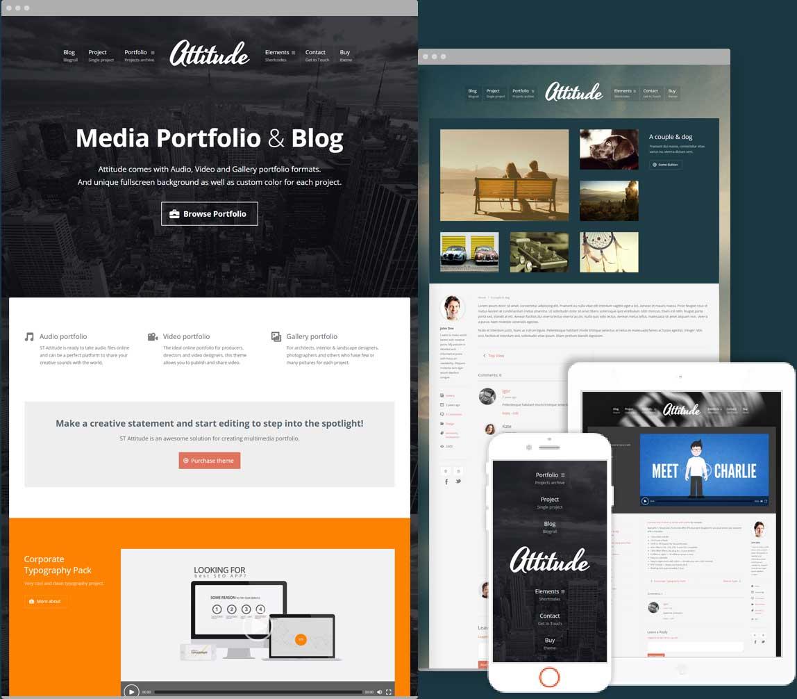 Attitude Multimedia Portfolio for Media Artists