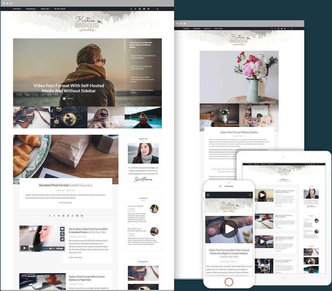 BirdHouse a Responsive WordPress Blog Theme