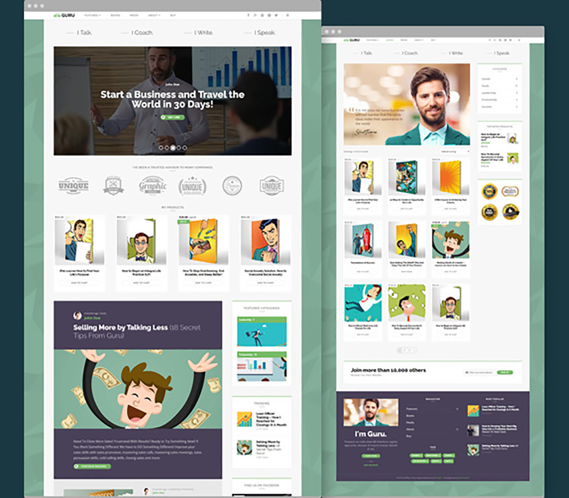 GuruBlog - WordPress Theme for Experts