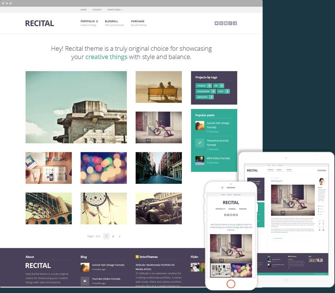 Recital Portfolio & Blog for Creatives