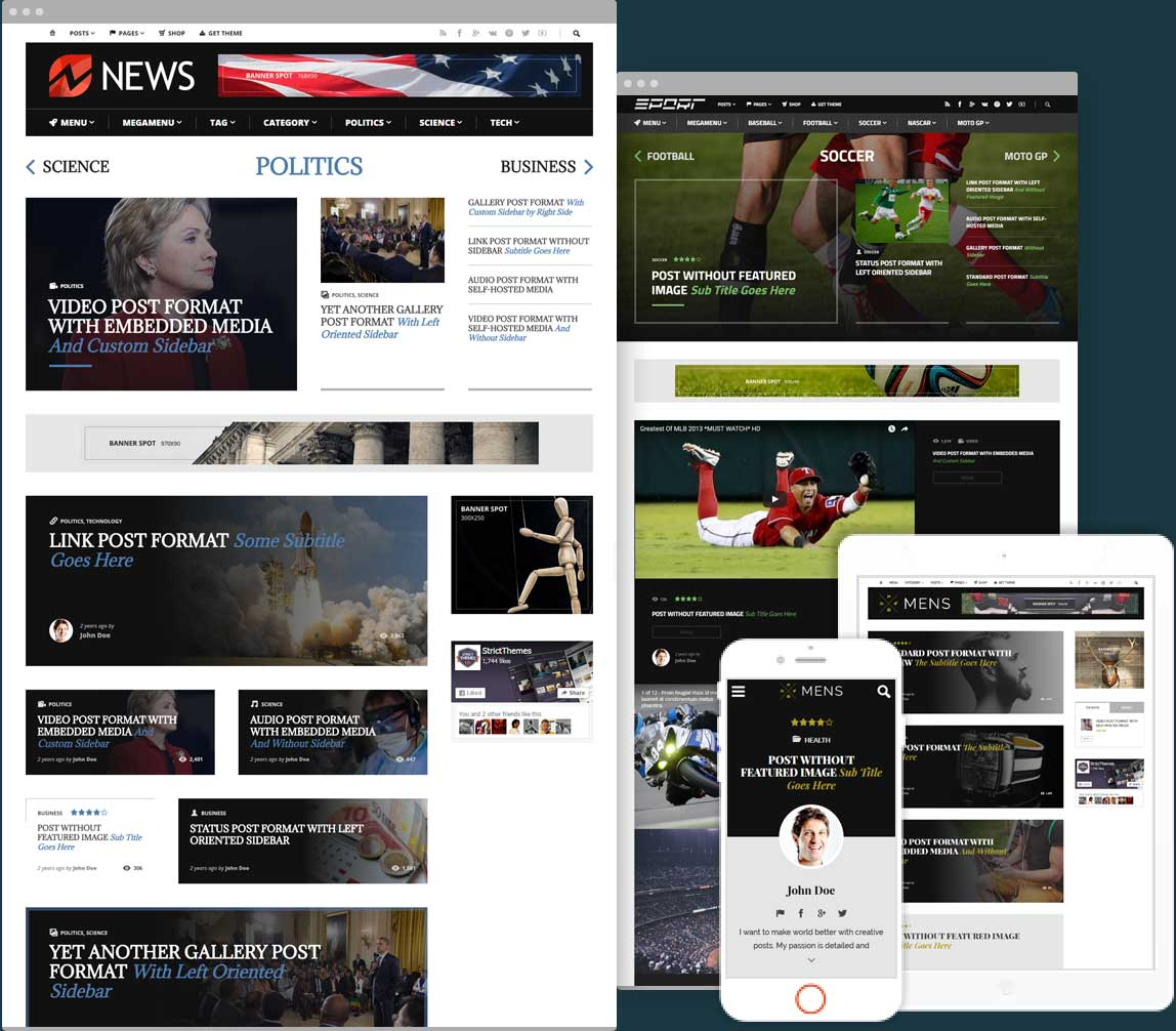 Shockmag Ad Optimized Magazine with Powerful Advertisement System