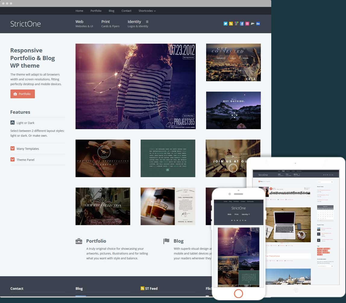 Strict One Portfolio & Blog for Creatives